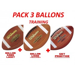 PACK 3 BALLONS TRAINING WILSON