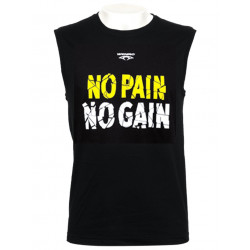 Tee Shirt NO PAIN NO GAIN - sans manches