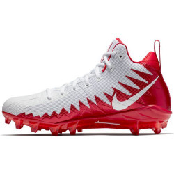 NIKE ALPHA MENACE PRO MID Blanc/Rouge