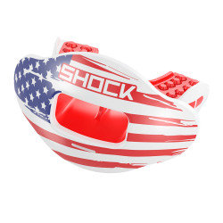 SHOCK DOCTOR Max AirFlow DP USA Flag avec lèvres