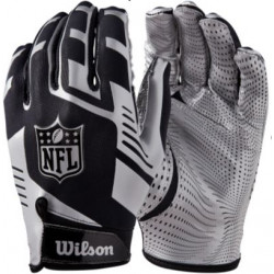WILSON NFL STRETCH FIT Black/Silver