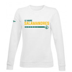 Sweat Femme sans capuche BASEBALL  SALAMANDRES du Havre