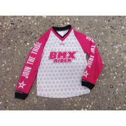 Maillot BMX RIDER WENRO Rose Enfant