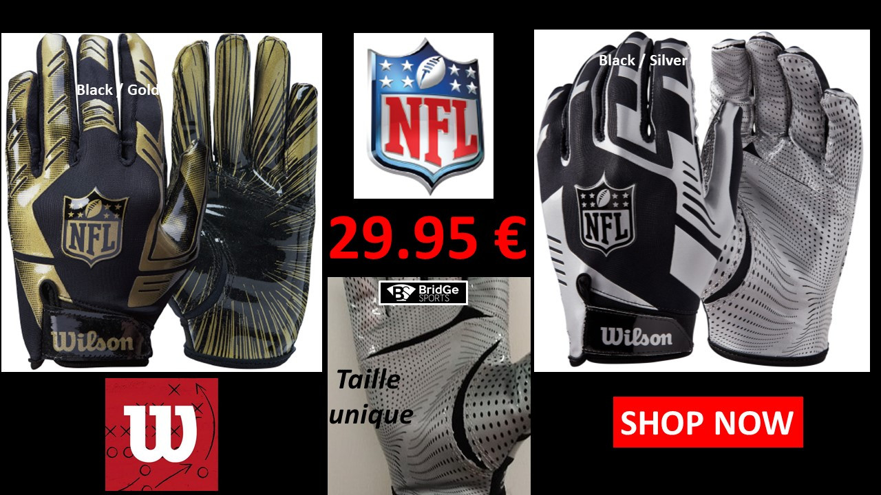 Gants de football americain WILSON NFL Stretch Fit
